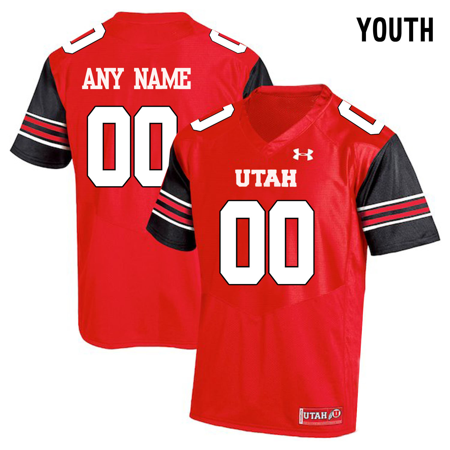 Utah Utes Red Youth's Customized College Football Jersey