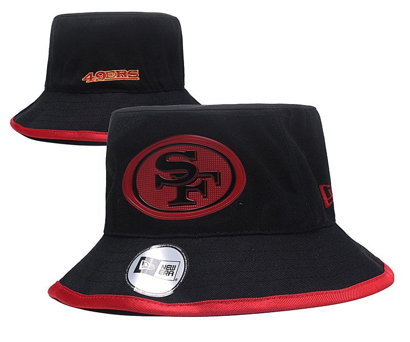 49ers Team Logo Black Wide Brim Hat YD