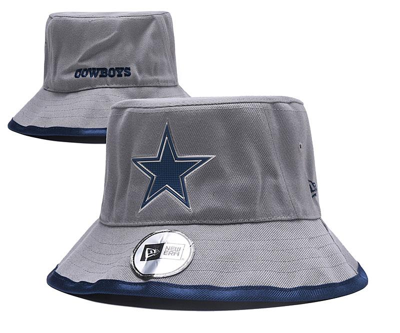 Cowboys Team Logo Gray Wide Brim Hat YD