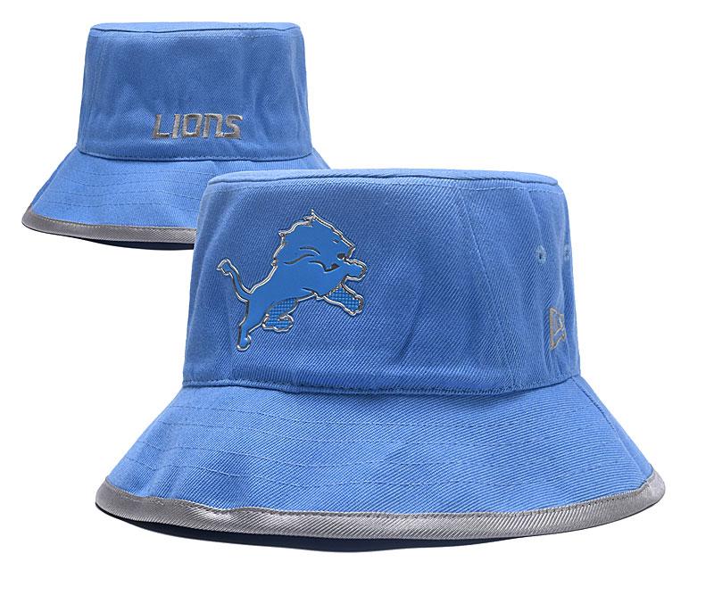 Lions Team Logo Light Blue Wide Brim Hat YD