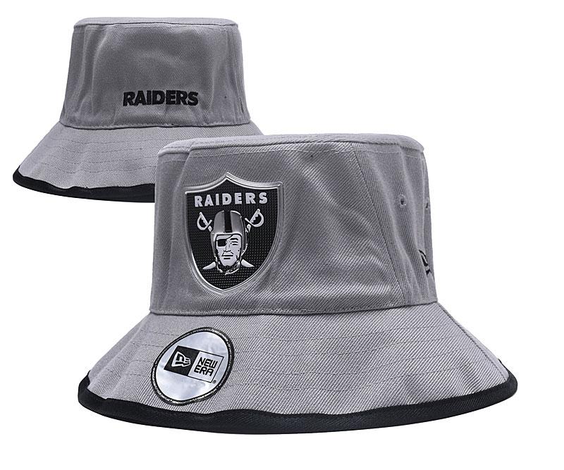 Raiders Team Logo Gray Wide Brim Hat YD