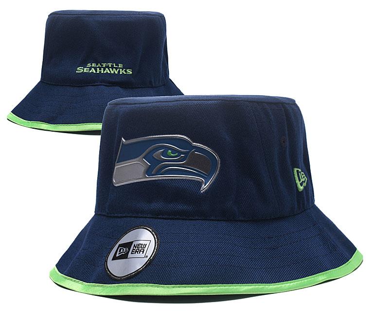 Seahawks Team Logo Navy Wide Brim Hat YD