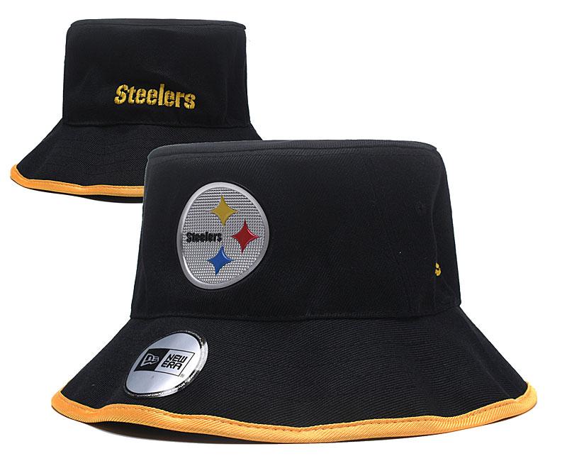 Steelers Team Logo Black Wide Brim Hat YD