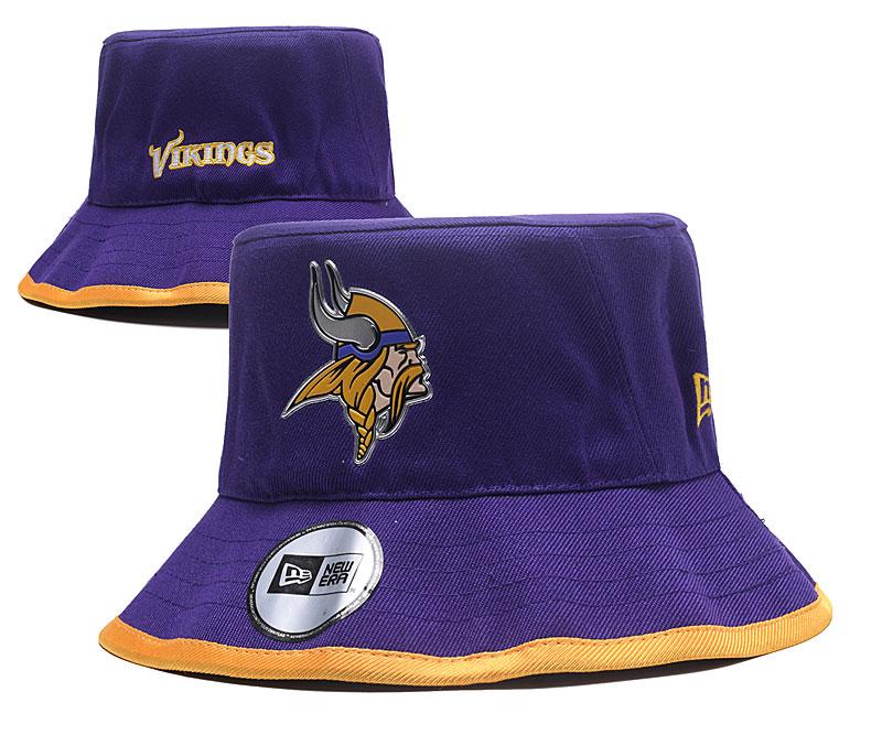 Vikings Team Logo Purple Wide Brim Hat YD