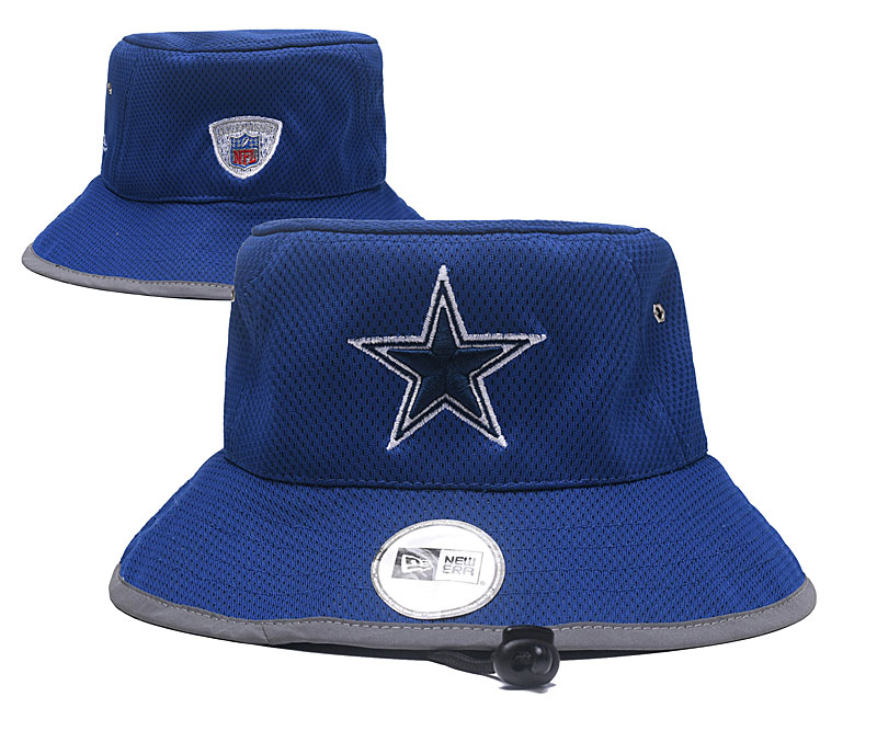 Cowboys Fresh Logo Navy Adjustable Wide Brim Hat YD