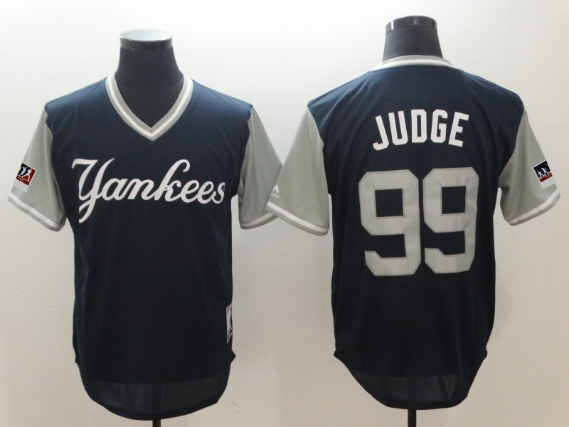 Yankees 99 Aaron Judge Judge Navy 2018 Players' Weekend Authentic Team Jersey