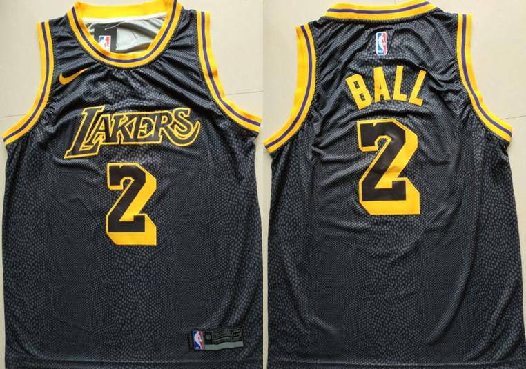 Lakers 2 Lonzo Ball Black 2018-19 City Edition Nike Swingman Jersey
