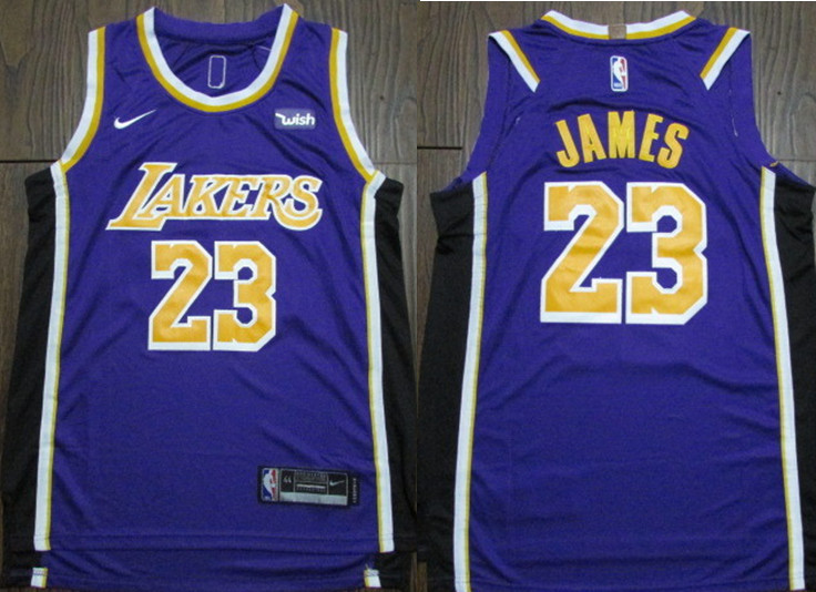 Lakers 23 Lebron James Purple 2018-19 Nike Authentic Jersey