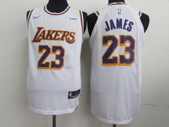Lakers 23 Lebron James White 2018-19 Nike Authentic Jersey