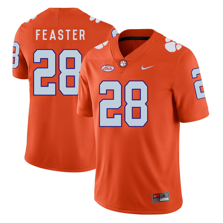 Clemson Tigers 28 Tavien Feaster Orange Nike College Football Jersey