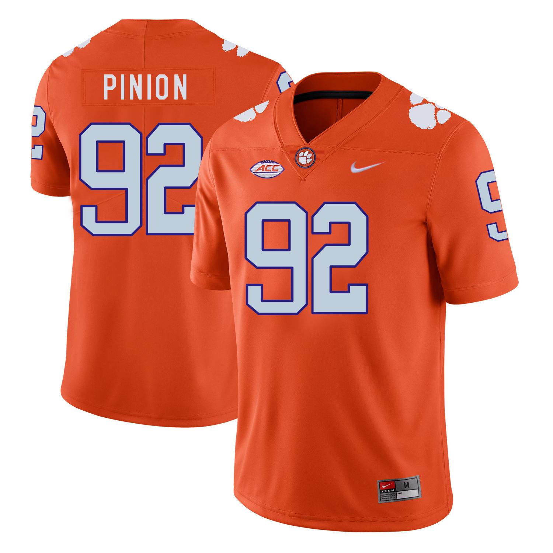 Clemson Tigers 92 Bradley Pinion Orange Nike College Football Jersey