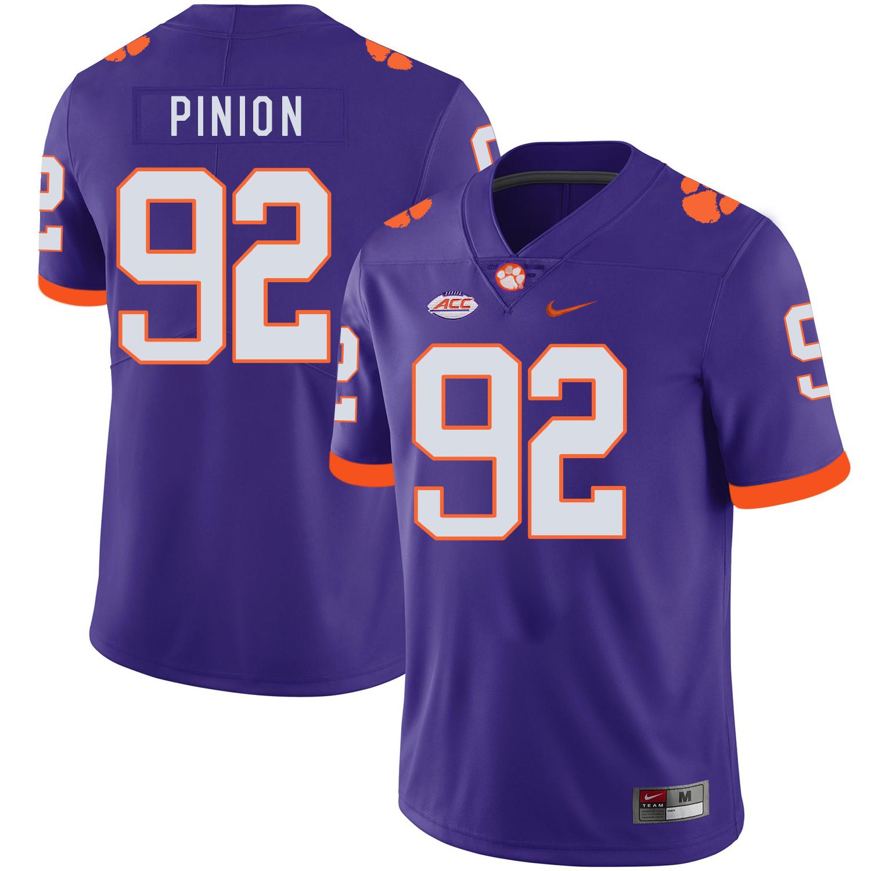 Clemson Tigers 92 Bradley Pinion Purple Nike College Football Jersey