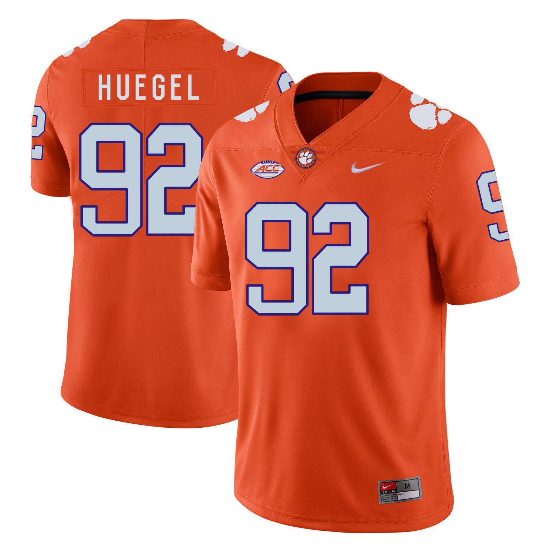 Clemson Tigers 92 Greg Huegel Orange Nike College Football Jersey