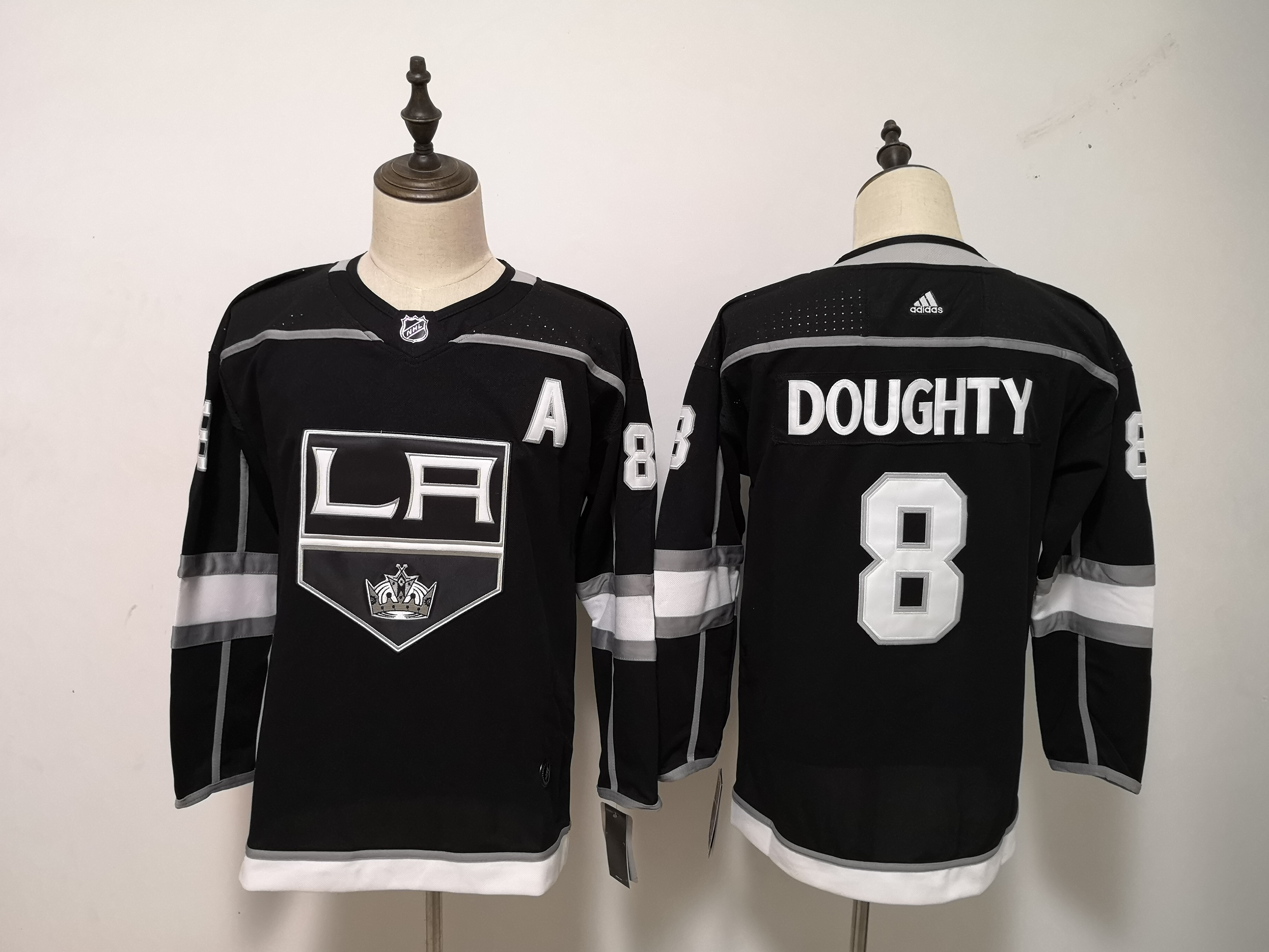 Kings 8 Drew Doughty Black Women Adidas Jersey