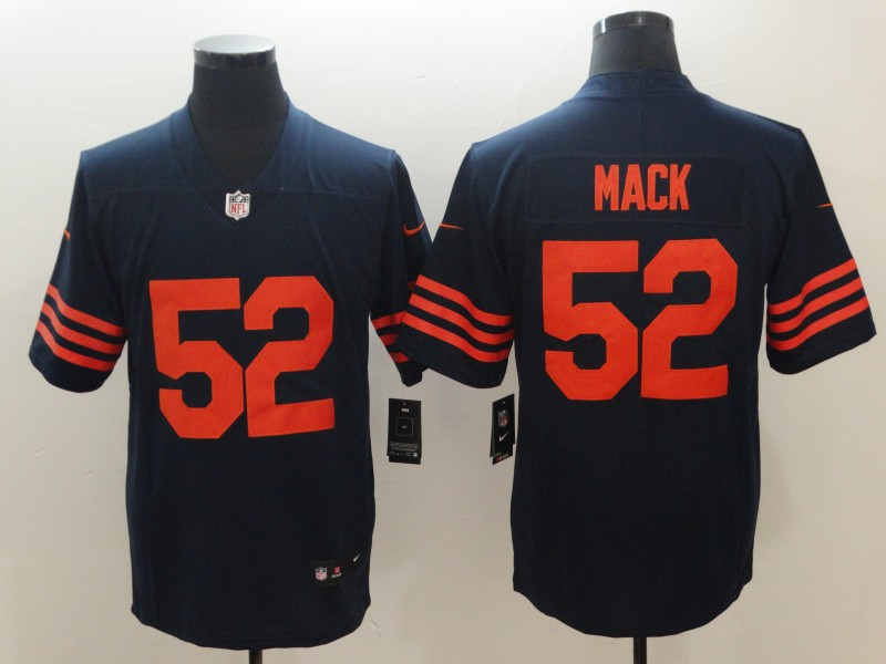 Nike Bears 52 Khalil Mack Navy Throwback Vapor Untouchable Limited Jersey