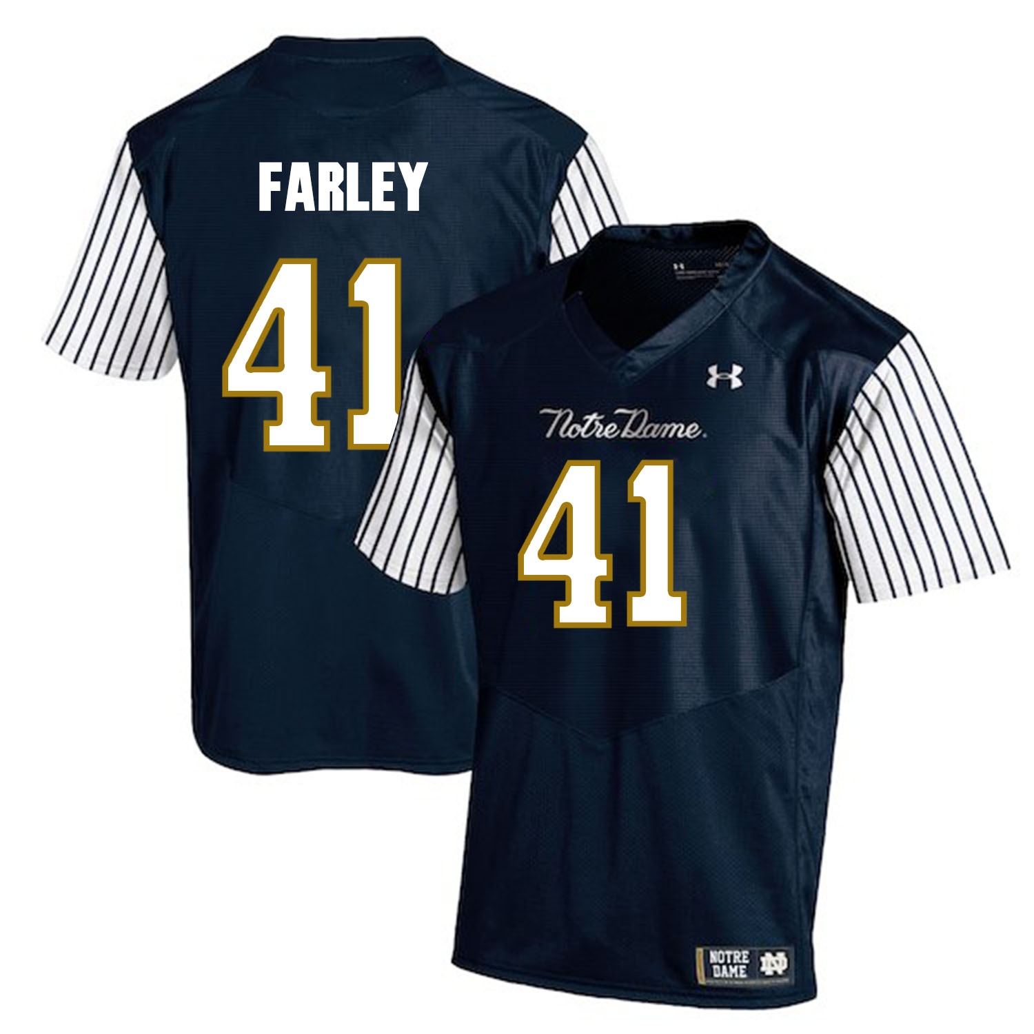 Notre Dame Fighting Irish 41 Matthias Farley Navy College Football Jersey