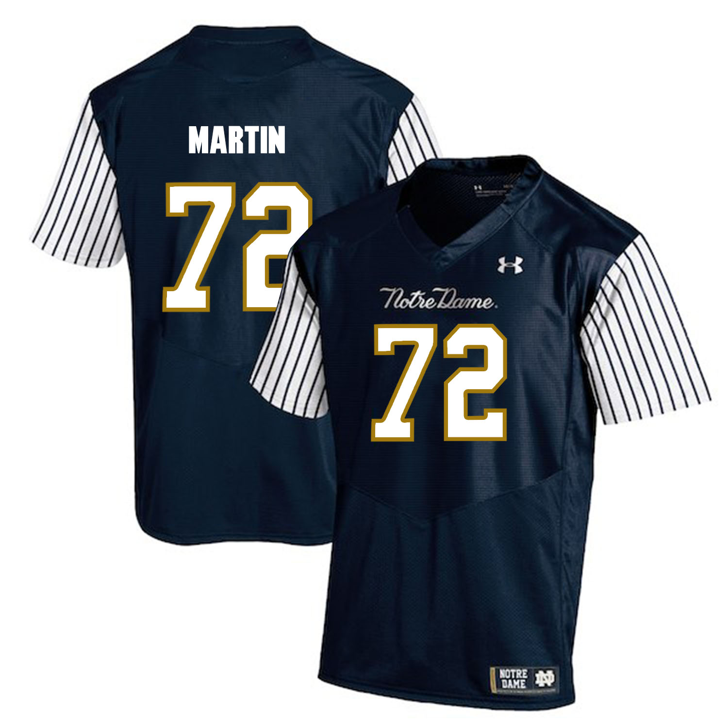Notre Dame Fighting Irish 72 Nick Martin Navy College Football Jersey
