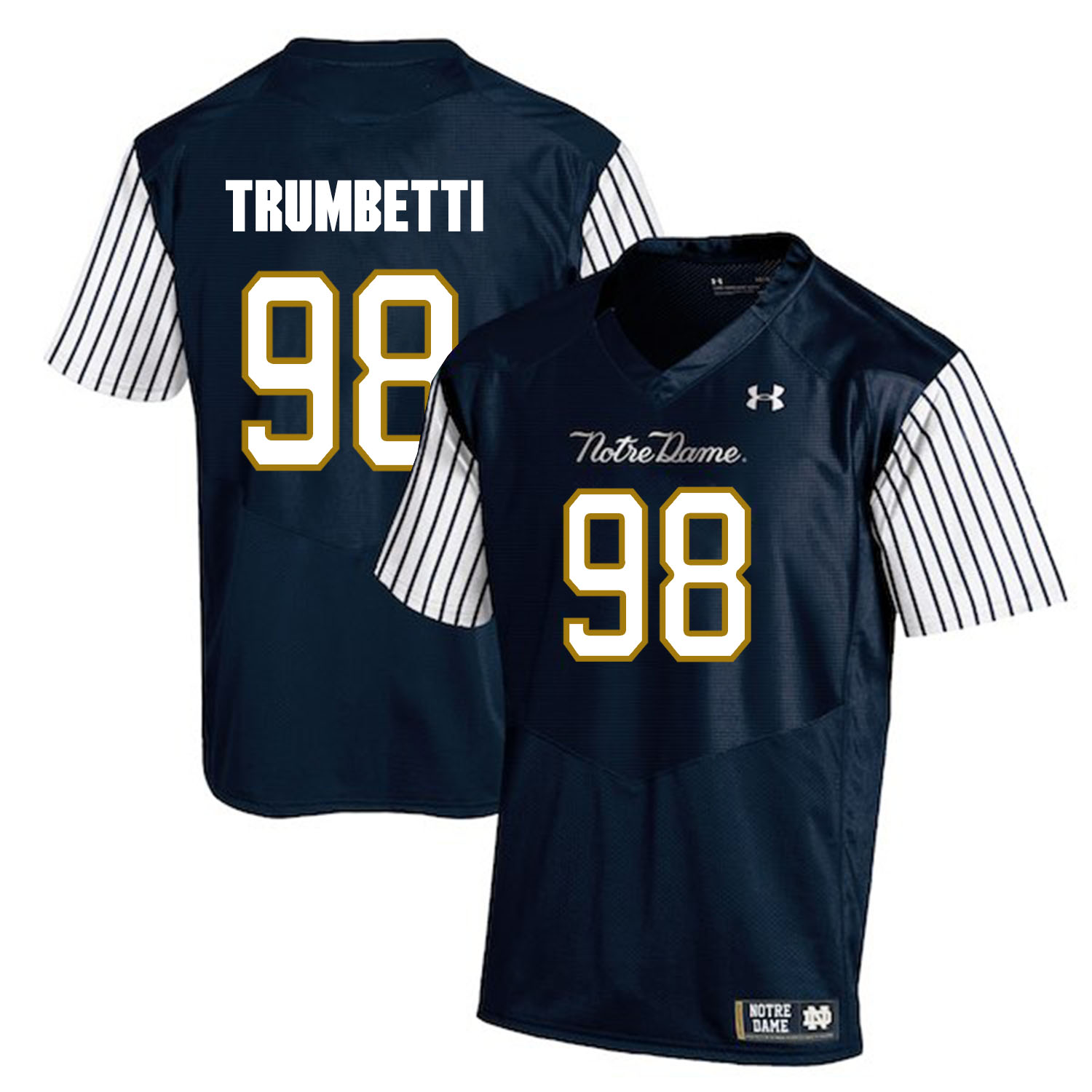 Notre Dame Fighting Irish 98 Andrew Trumbetti Navy College Football Jersey