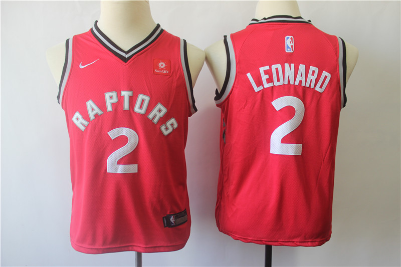 Raptors 2 Kawhi Leonard Red Youth Nike Swingman Jersey