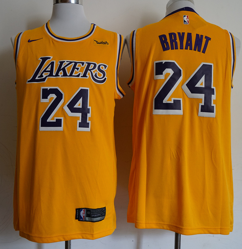 Lakers 24 Kobe Bryant Gold 2018-19 Nike Swingman Jersey