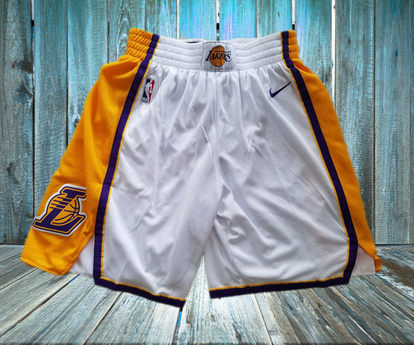 Lakers White Nike Swingman Shorts