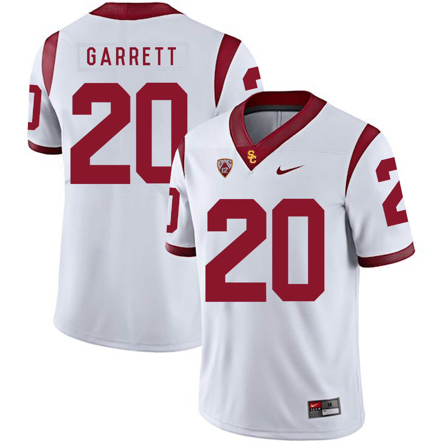 USC Trojans 20 Mike Garrett White College Football Jersey