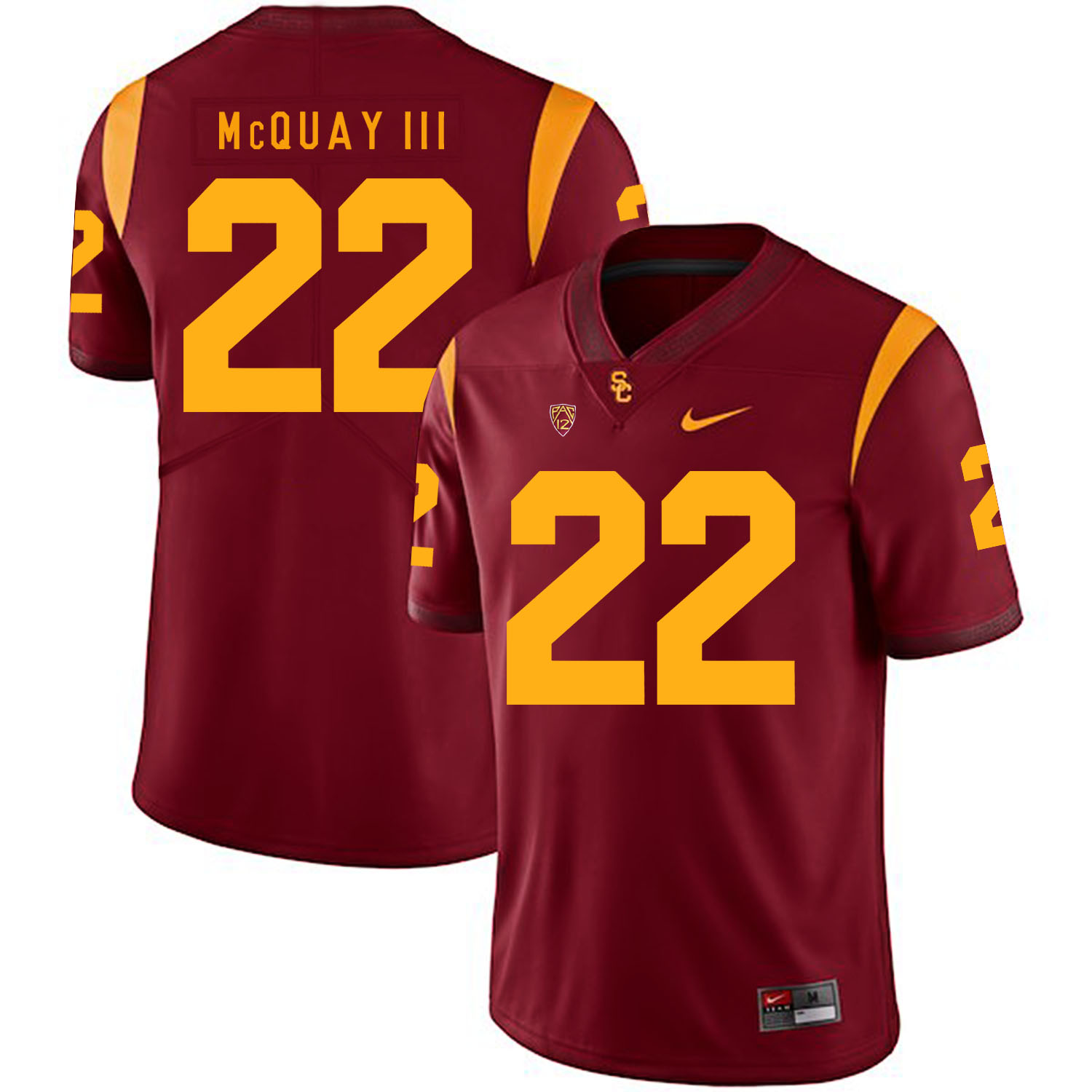USC Trojans 22 Leon McQuay III Red College Football Jersey