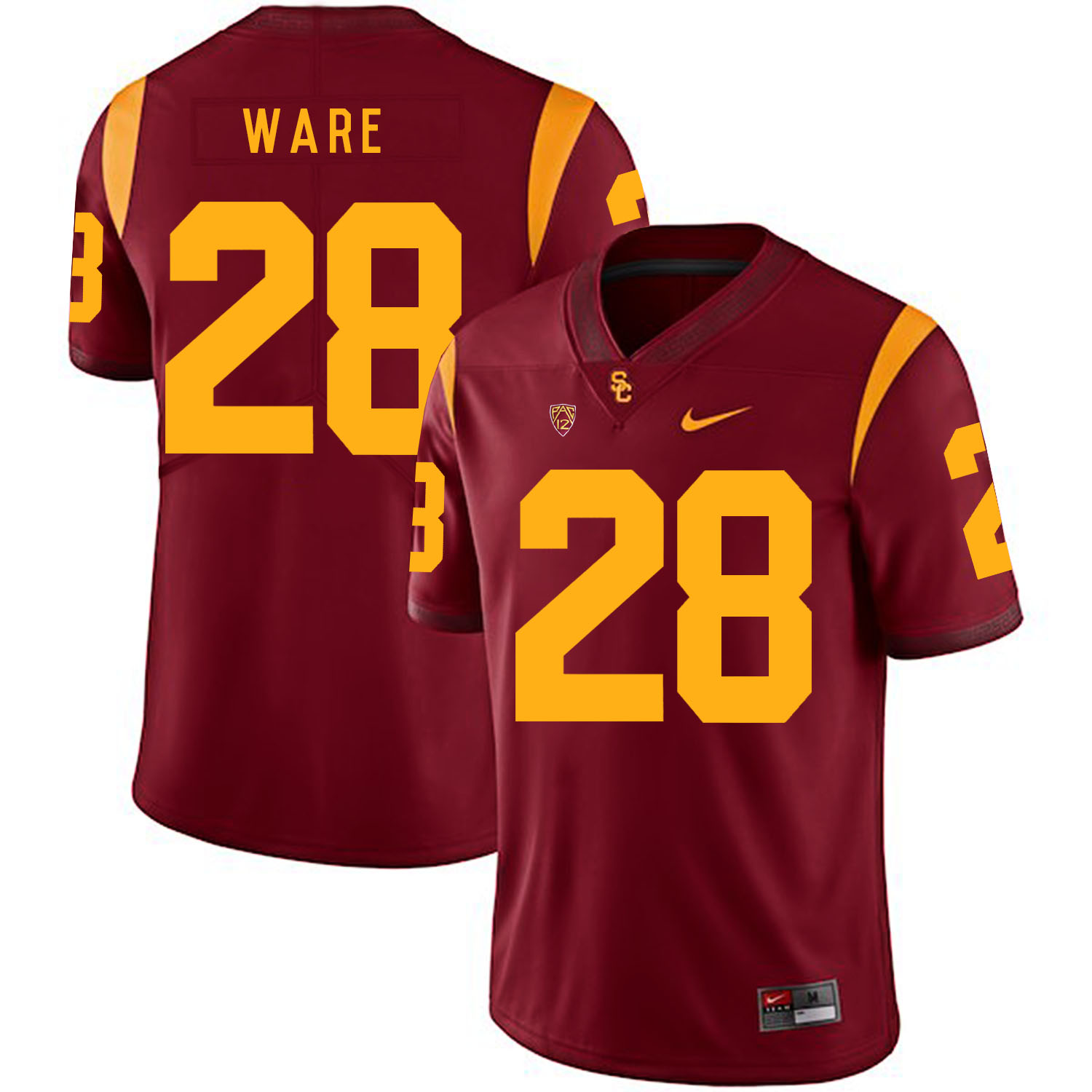 USC Trojans 28 Aca'Cedric Ware Red College Football Jersey