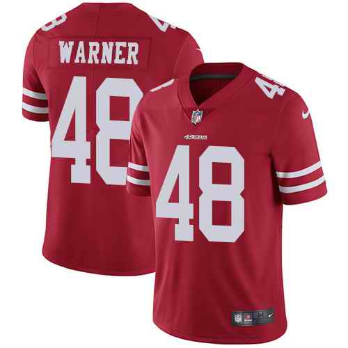Nike 49ers 48 Fred Warner Red Vapor Untouchable Limited Jersey