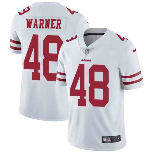 Nike 49ers 48 Fred Warner White Vapor Untouchable Limited Jersey