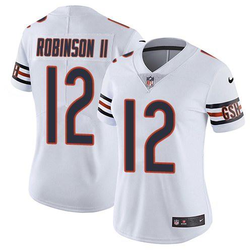 Nike Bears 12 Allen Robinson II White Women Color Rush Limited Jersey