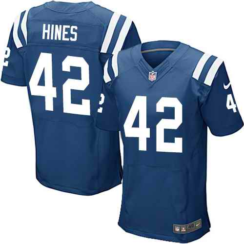 Nike Colts 42 Nyheim Hines Royal Elite Jersey