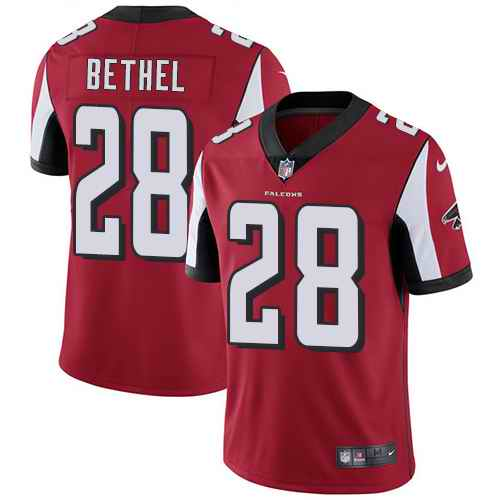 Nike Falcons 28 Justin Bethel Red Vapor Untouchable Limited Jersey