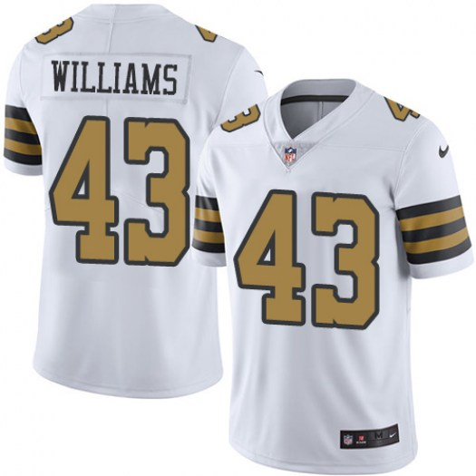 Nike Saints 43 Marcus Williams Black Color Rush Limited Jersey