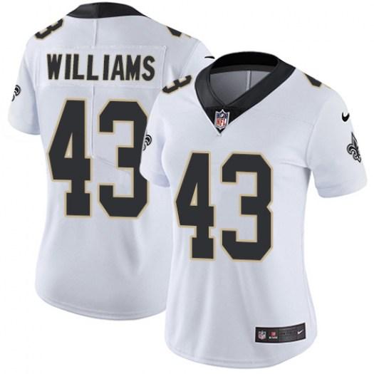 Nike Saints 43 Marcus Williams White Women Vapor Untouchable Limited Jersey