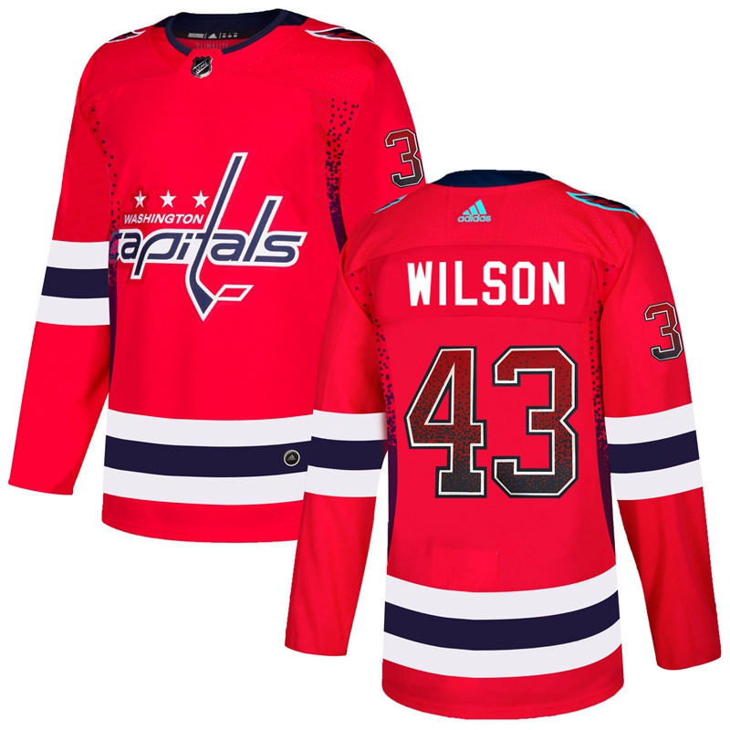 Capitals 43 Tom Wilson Red Drift Fashion Adidas Jersey