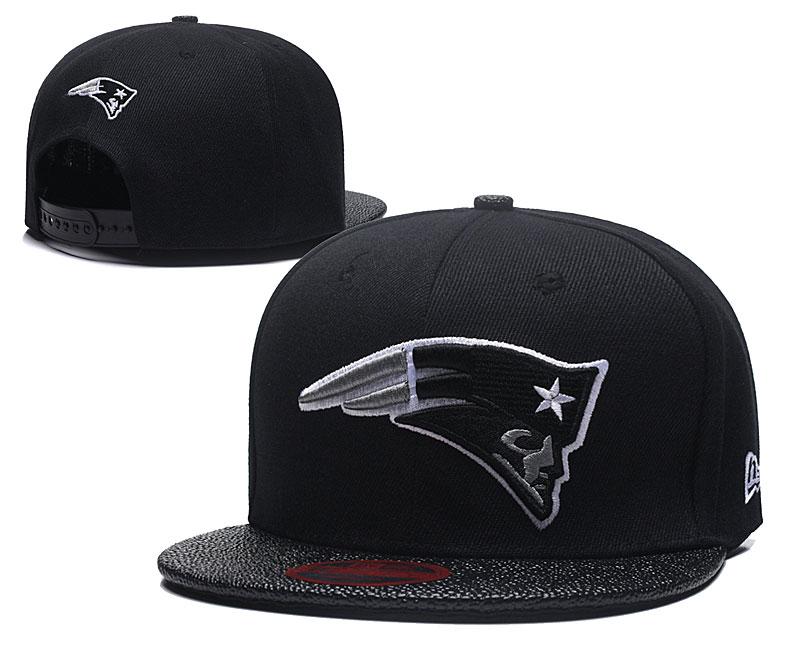 Patriots Team Logo Black Adjustable Hat LT