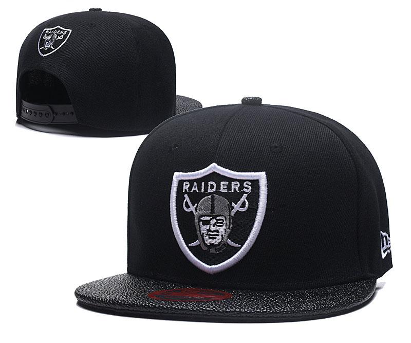 Raiders Team Logo Black Adjustable Hat LT