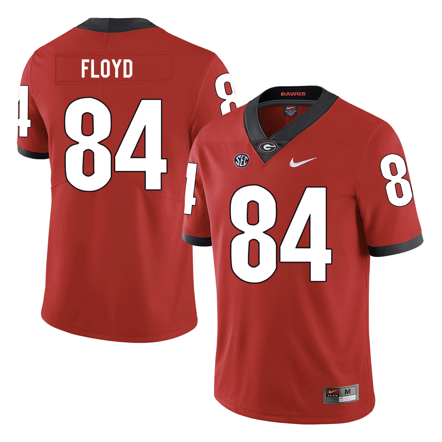 Georgia Bulldogs 84 Leonard Floyd Red Nike College Football Jersey