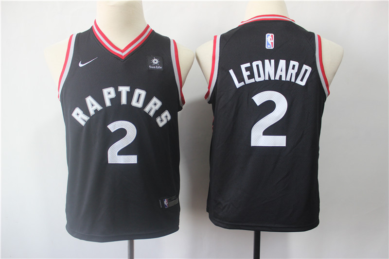 Raptors 2 Kawhi Leonard Black Youth Nike Swingman Jersey