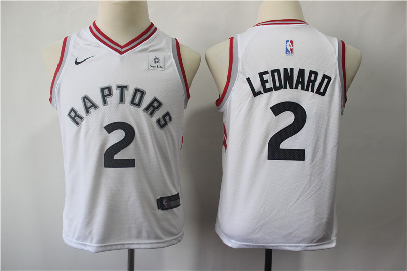 Raptors 2 Kawhi Leonard White Youth Nike Swingman Jersey