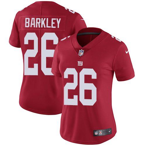 Nike Giants 26 Saquon Barkley Red Alternate Women Vapor Untouchable Limited Jersey