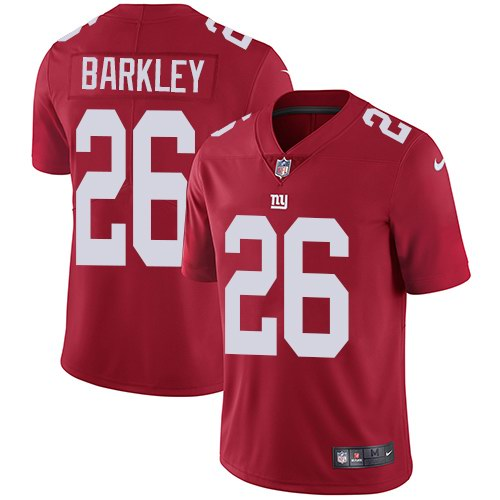 Nike Giants 26 Saquon Barkley Red Alternate Youth Vapor Untouchable Limited Jersey