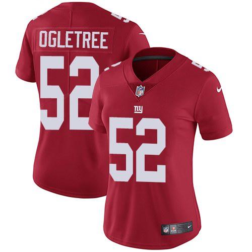 Nike Giants 52 Alec Ogletree Red Alternate Women Vapor Untouchable Limited Jersey