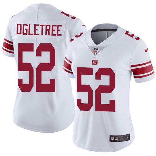 Nike Giants 52 Alec Ogletree White Women Vapor Untouchable Limited Jersey