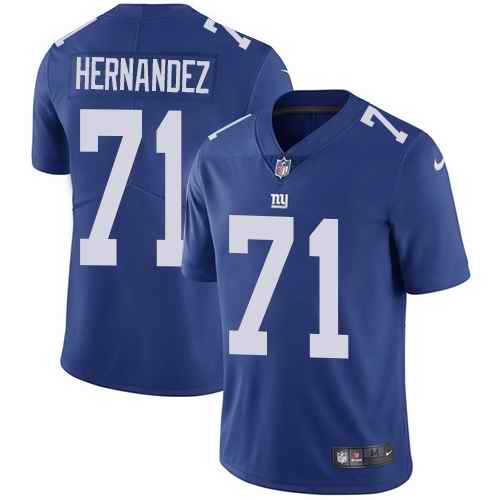 Nike Giants 71 Will Hernandez Royal Vapor Untouchable Limited Jersey
