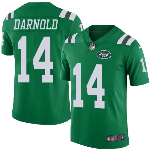 Nike Jets 14 Sam Darnold Green Youth Color Rush Limited Jersey