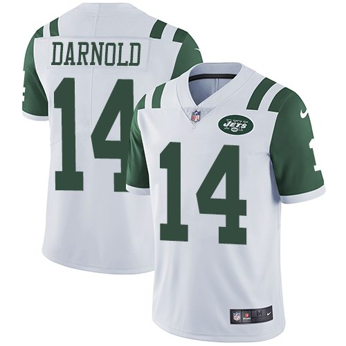 Nike Jets 14 Sam Darnold White Youth Vapor Untouchable Limited Jersey