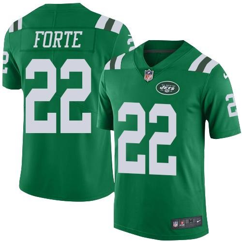 Nike Jets 22 Matt Forte Green Youth Color Rush Limited Jersey