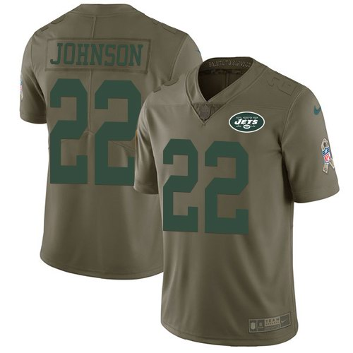 Nike Jets 22 Matt Forte Olive Youth Salute To Service Limited Jersey